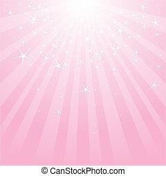 różowy, abstrakcyjny, pasy, gwiazdy