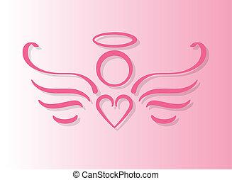 różowy, anioł