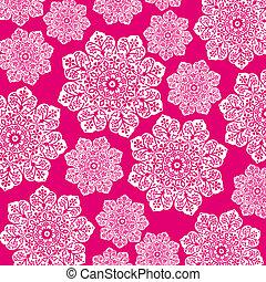różowy, &, batik, gorący, kwiatowy, biały