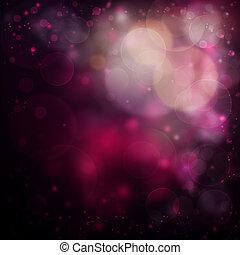 różowy, bokeh, romantyk, tło