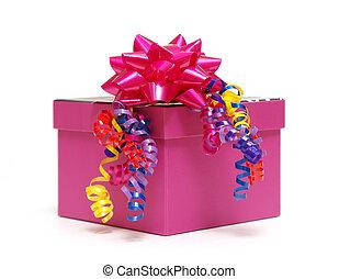 różowy, boks, dar