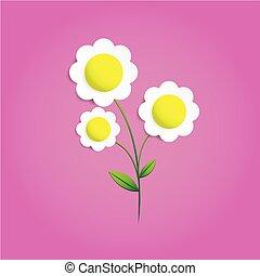 różowy, cięty, tło, papier kwiat