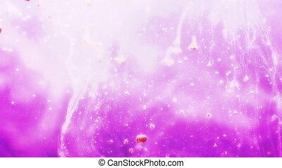 różowy, cząstki, ruchomy