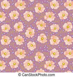 różowy, flowers.