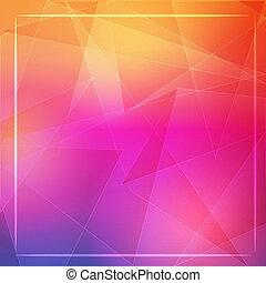 różowy, fra, abstrakcyjny, kwestia, tło, pomarańcza, biały, lustrzany