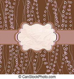 różowy, frame., polka, eps, valentine, 8, projektować, kropka