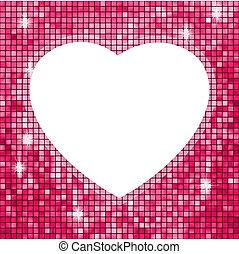 różowy, heart., ułożyć, eps, formułować, 8