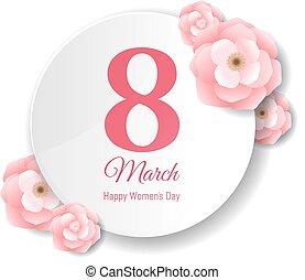 różowy, kartka pocztowa, womens, dzień, kwiat
