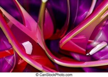 różowy, kolce