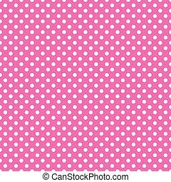 różowy, kropka, polka, seamless, tło