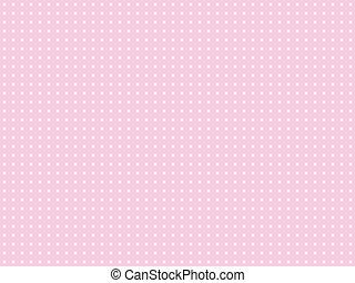 różowy, kropka polki