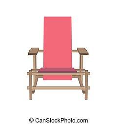 różowy, noga, odizolowany, ilustracja, rysunek, realistyczny, krzesło, wektor, tło, biały, księżna, meble
