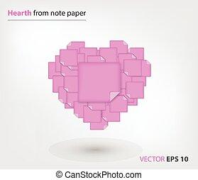 różowy, nuta, palenisko, papier