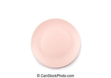 różowy, płyta, biały, odizolowany