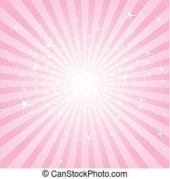 różowy, pasy gwiazd, abstrakcyjny
