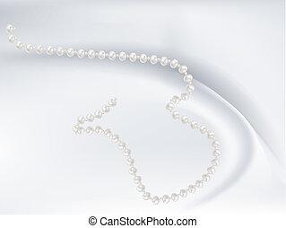 różowy, perły, sieczka, romantyk