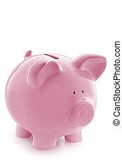 różowy piggy bank