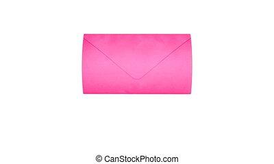 różowy, poczta, miłość