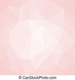 różowy, polygon., abstrakcyjny, tło
