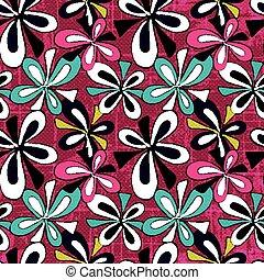 różowy, próbka, abstrakcyjny, seamless, ilustracja, wektor, graffiti, tło, kwiaty