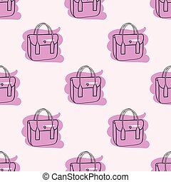 różowy, próbka, seamless, wręczać torbę, pociągnięty