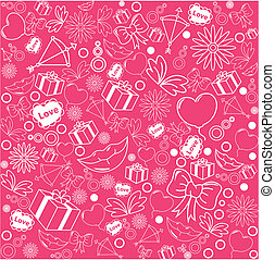 różowy, próbka, tło, seamless, list miłosny
