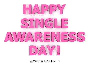 różowy, purpurowy, jednorazowy, szczęśliwy, świadomość, day!