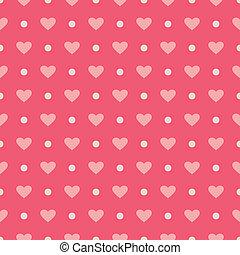 różowy, serca, wektor, tło