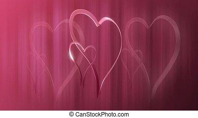 różowy, serca
