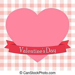 różowy, serce, s, dzień, valentine