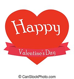 różowy, serce, valentine, s, wektor, dzień
