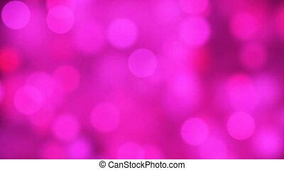 różowy, sercowa forma, pętla, lustrzany