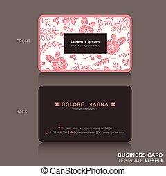 różowy, sprytny, tło, handlowy, próbka, szablon, kwiatowy, karta