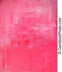 różowy, sztuka, abstrakcyjne malarstwo