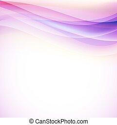 różowy, wektor, lekki, lines., falisty, tło
