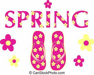 różowy, wiosna, fiaska, trzepnięcie