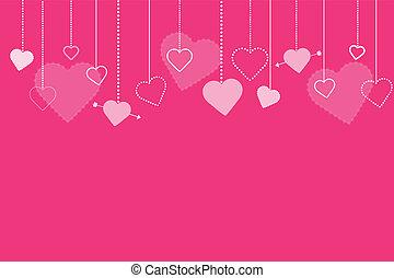 różowy, wizerunek, list miłosny, tło