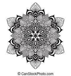 rówieśnik, serwetka, okrągły, koronka, kwiatowy wzór