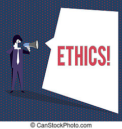 równość, handlowy, fotografia, pokaz, pisanie, principles., ethics., tekst, ręka, inny, konceptualny, moralny, waga, posiadanie, utrzymując