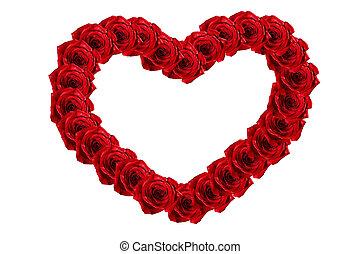 rózsa, keret, szív