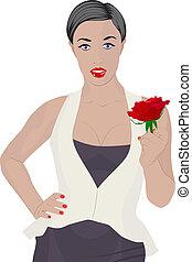 rózsa, nő