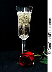 rózsa, pezsgő