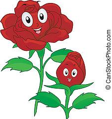 rózsa, piros, kabala