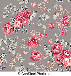 rózsa, seamless, motívum