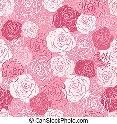 rózsa, vektor, pattern., seamless