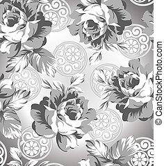 rózsa, virág, seamless, háttér