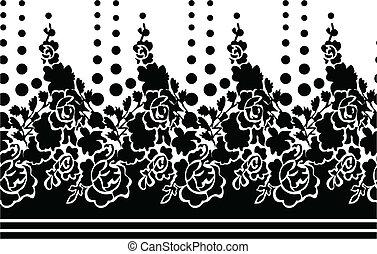 rózsa, virág, seamless, tapéta