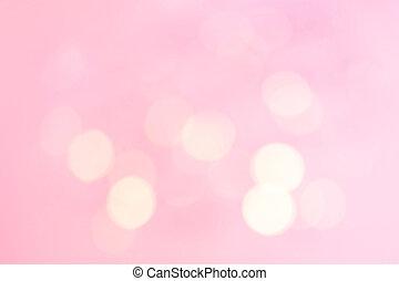 rózsaszínű, ünnepies, elvont, lights., sárga láng, bokeh,...