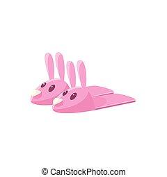 rózsaszínű, üregi nyúl, papucs