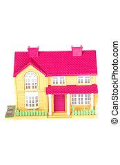 rózsaszínű, apró épület